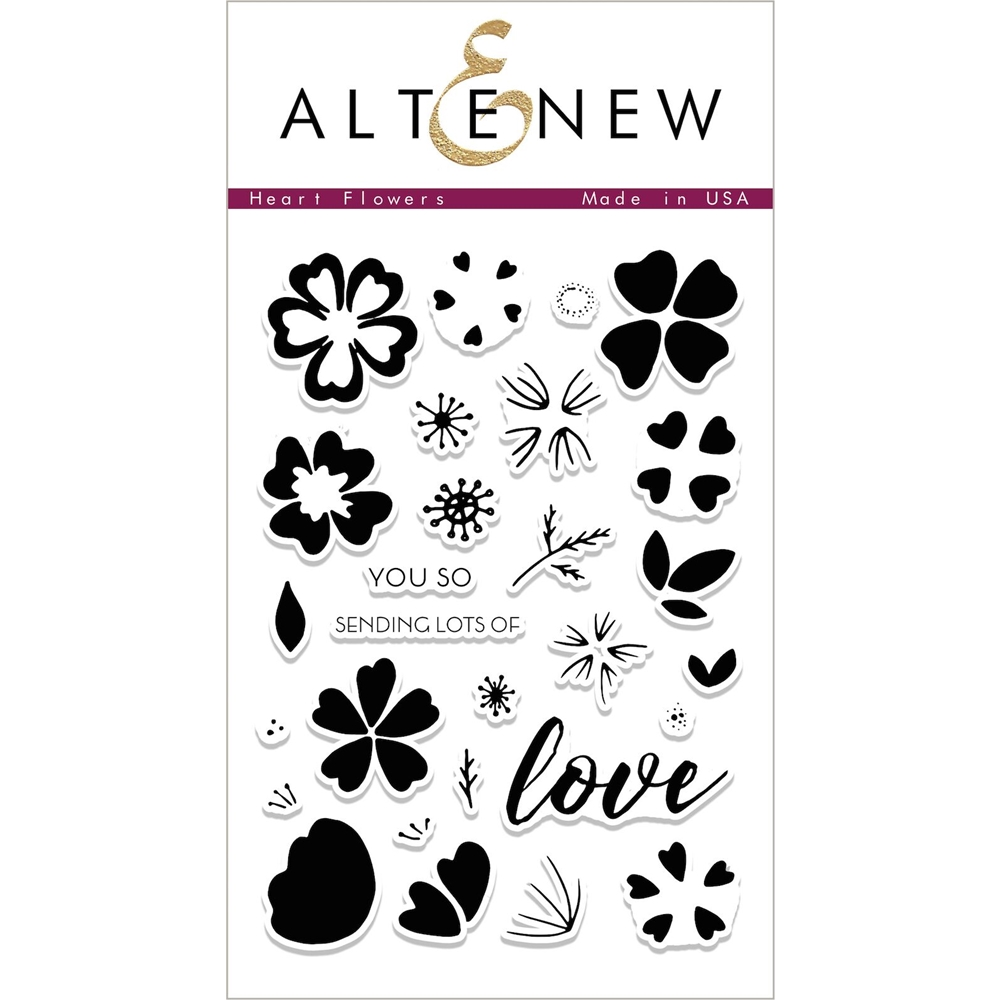 Altenew HEART FLOWERS Clear Stamp Set ALT1993 zoom image