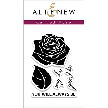 Altenew CARVED ROSE Clear Stamp Set ALT1986