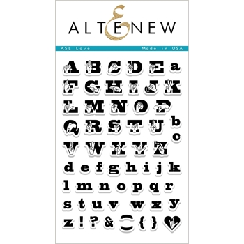 Altenew ASL LOVE Clear Stamp Set ALT1983