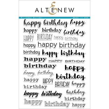 Altenew BIRTHDAY BUILDER Clear Stamp Set ALT1985