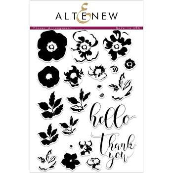 Altenew FLOWER ARRANGEMENT Clear Stamp Set ALT1785
