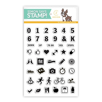 CZ Design Clear Stamps FITNESS TRACKER cz14
