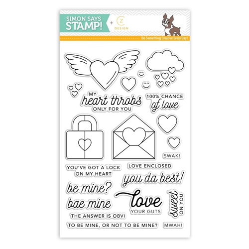 CZ Design Clear Stamps HEARTTHROB cz15 Preview Image