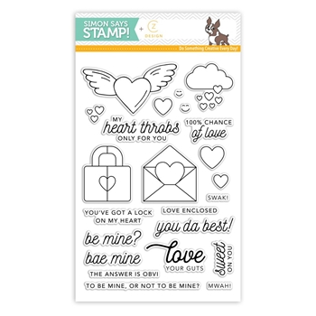 CZ Design Clear Stamps HEARTTHROB cz15