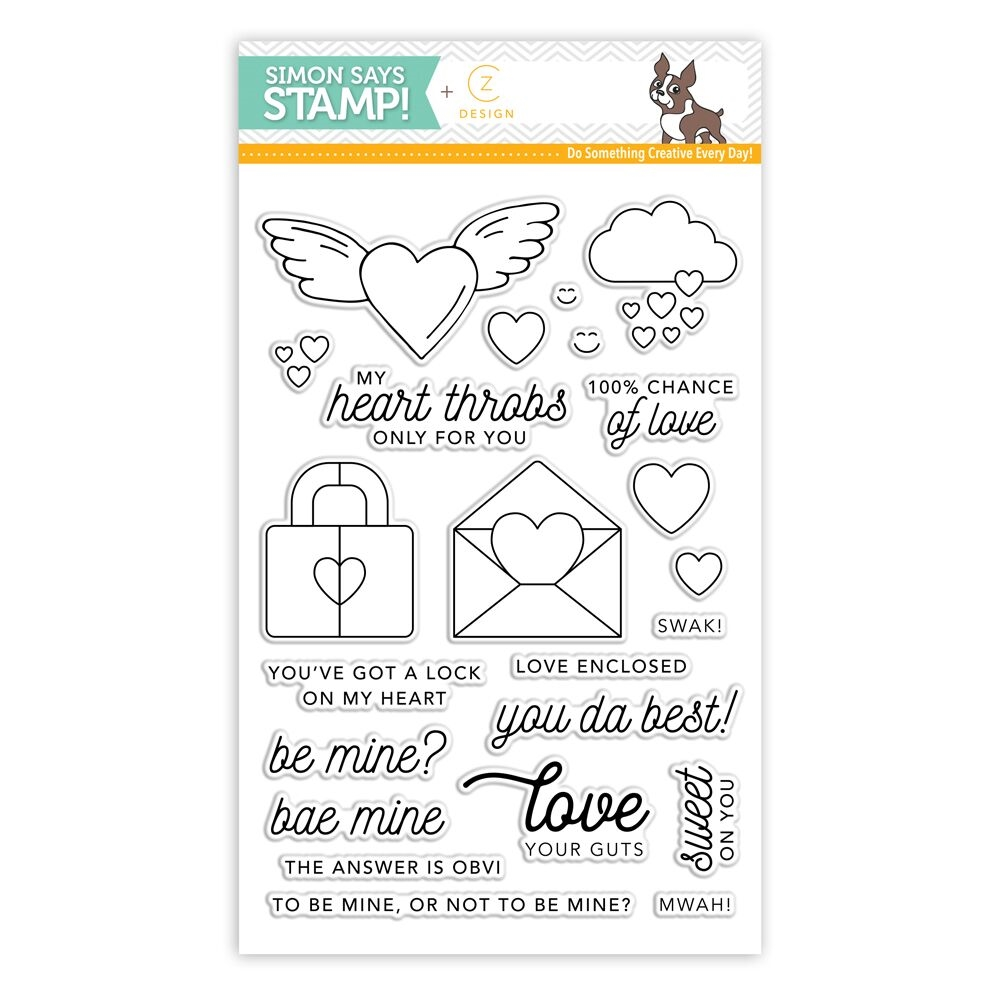CZ Design Clear Stamps HEARTTHROB cz15 zoom image