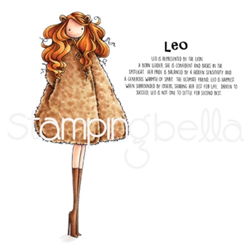 Stamping Bella Cling Stamp UPTOWN ZODIAC GIRL LEO Rubber UM eb620