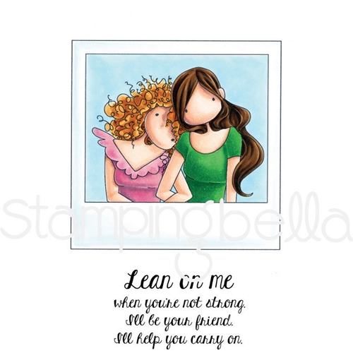 Stamping Bella Cling Stamp UPTOWN GIRLS SNAPSHOTS LEAN ON ME Rubber UM eb609 Preview Image