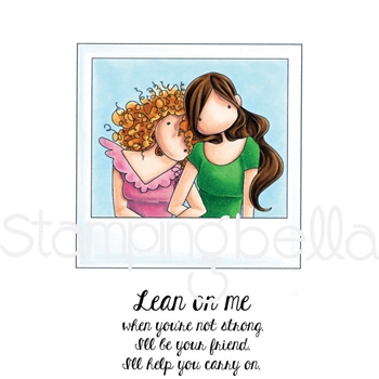 Stamping Bella Cling Stamp UPTOWN GIRLS SNAPSHOTS LEAN ON ME Rubber UM eb609