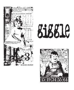 Tim Holtz Cling Rubber Stamps THE GIRLS Stampers Anonymous CMS020