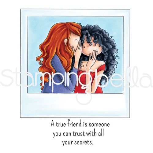 Stamping Bella Cling Stamp UPTOWN GIRLS SNAPSHOTS I HAVE A SECRET Rubber UM eb607 Preview Image