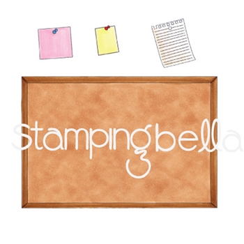 Stamping Bella Cling Stamp CORKBOARD BACKDROP Rubber UM eb633