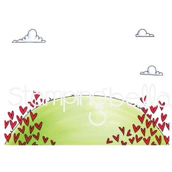 Stamping Bella Cling Stamp LOVE BACKDROP Rubber UM eb634