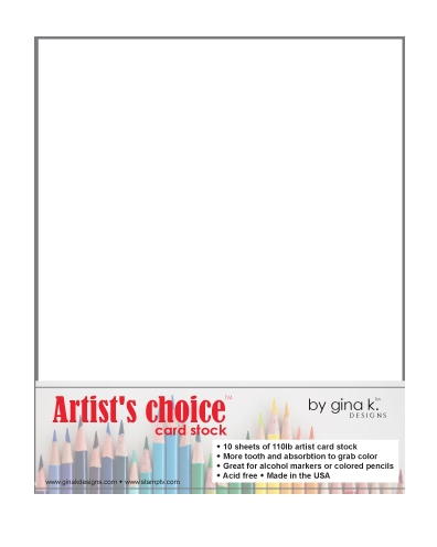 Gina K Designs ARTIST'S CHOICE 110 LB WHITE CARDSTOCK 8.5 x 11 Inches 47113 zoom image