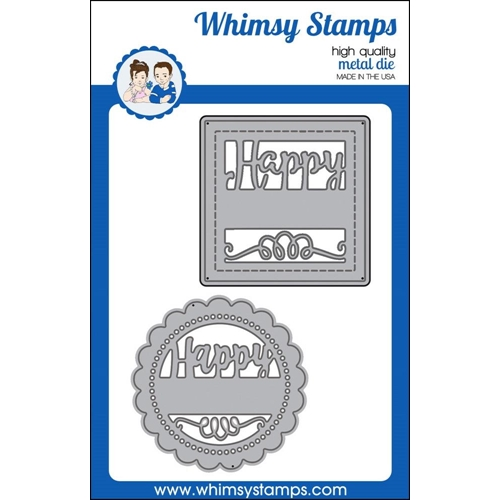 Whimsy Stamps HAPPY SAYINGS Die Set wsd374 Preview Image