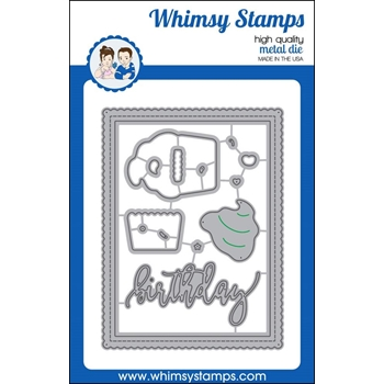 Whimsy Stamps SHAKER BUILDER SWEETEST BIRTHDAY Die Set wsd360n*