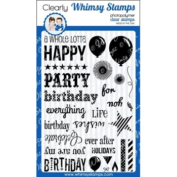 Whimsy Stamps HAPPY EVERYTHING Clear Stamps cwss115