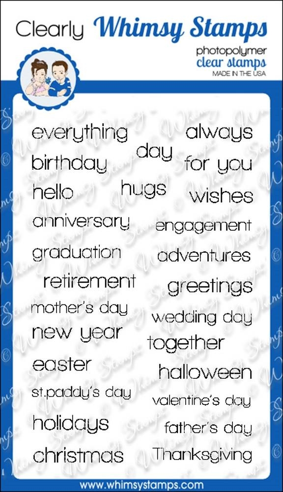 Whimsy Stamps HAPPY SAYINGS Clear Stamps cwsd191 zoom image