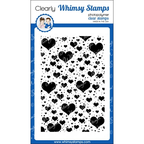Whimsy Stamps FLOATING HEARTS BACKGROUND Clear Stamps cwsd185* Preview Image