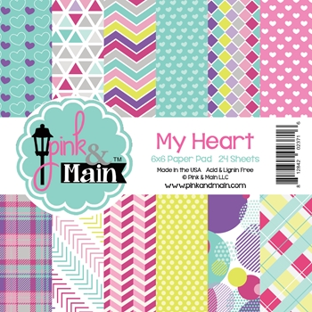 Pink and Main 6X6 MY HEART Paper Pad