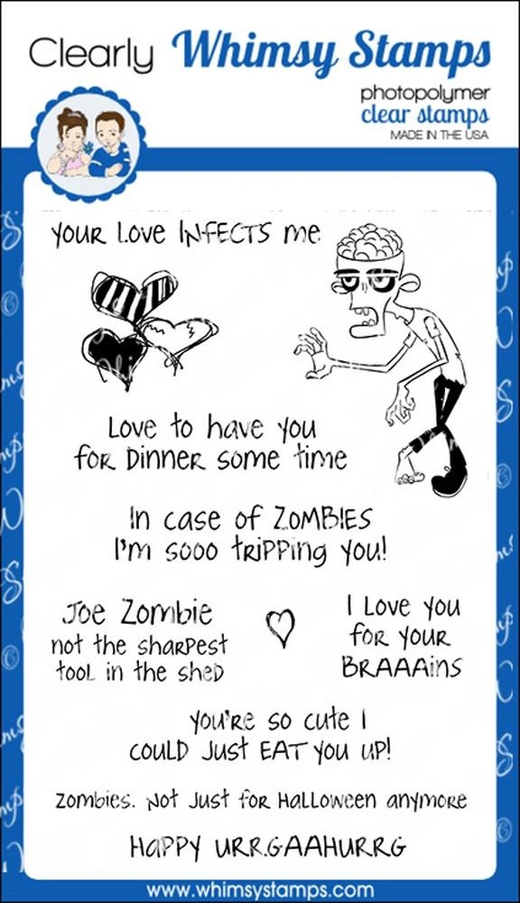 Whimsy Stamps JOE ZOMBIE Clear Stamps cwsd212 zoom image