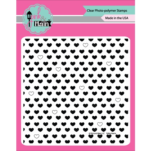 Pink and Main POLKA HEARTS Clear Stamp Set PM0256 Preview Image