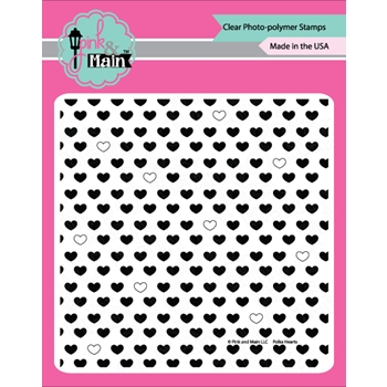 Pink and Main POLKA HEARTS Clear Stamp Set