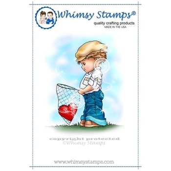 Whimsy Stamps YOU'VE CAPTURED MY HEART Rubber Cling Stamp c1205
