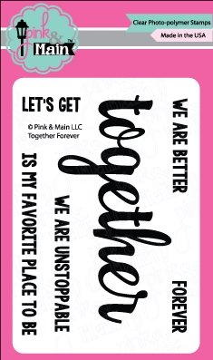 Pink and Main TOGETHER FOREVER Clear Stamp Set PM0257 zoom image