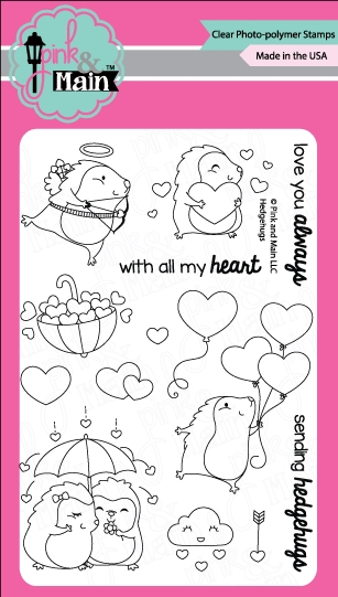 Pink and Main HEDGEHUGS Clear Stamp Set PM0254 zoom image