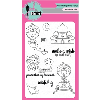 Pink and Main GENIE BOY Clear Stamp Set