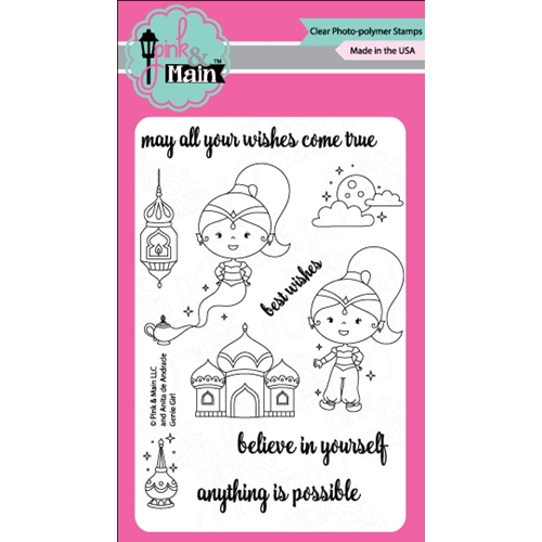Pink and Main GENIE GIRL Clear Stamp Set PM0254 Preview Image