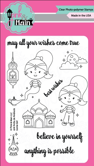 Pink and Main GENIE GIRL Clear Stamp Set PM0254 zoom image
