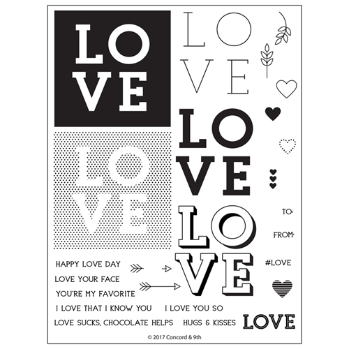 Concord & 9th LOVE YOU SO Clear Stamp Set 10302* Preview Image