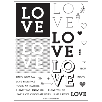 Concord & 9th LOVE YOU SO Clear Stamp Set 10302*