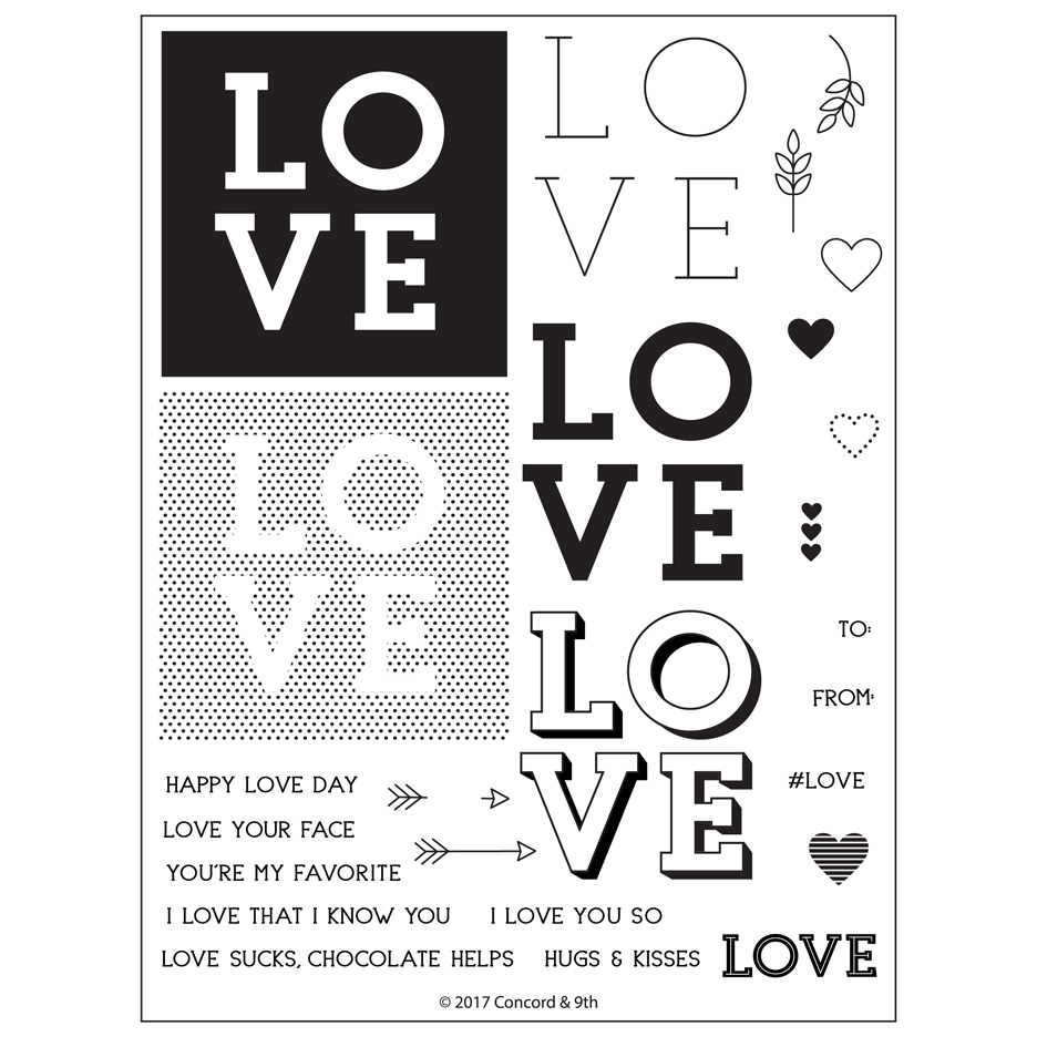 Concord & 9th LOVE YOU SO Clear Stamp Set 10302* zoom image