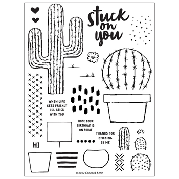 Concord & 9th STUCK ON YOU Clear Stamp Set 10308