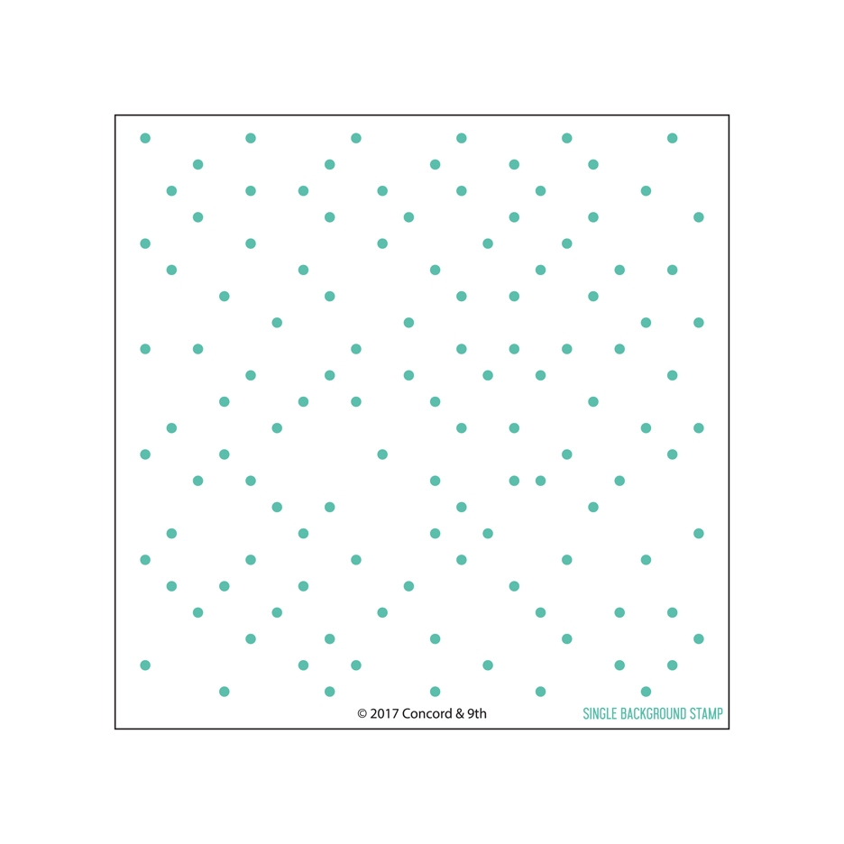 Concord & 9th POLKA DOT TURNABOUT Clear Stamp Set 10301 zoom image
