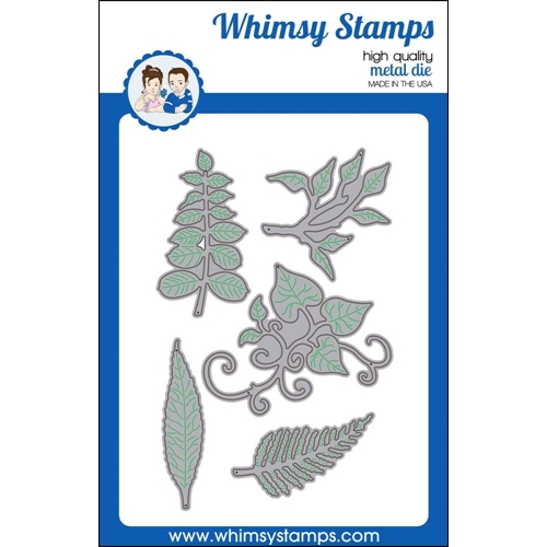 Whimsy Stamps LEAF FOLIAGE 1 Die Set wsd410* Preview Image