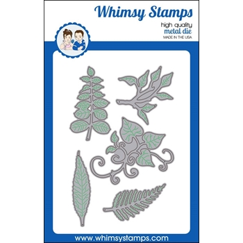 Whimsy Stamps LEAF FOLIAGE 1 Die Set wsd410*