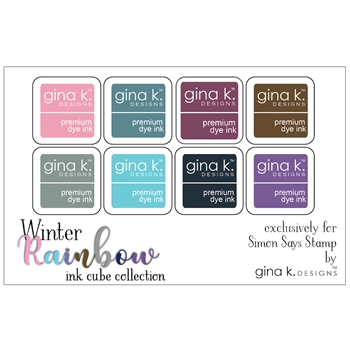 Gina K Designs WINTER RAINBOW Premium Dye Ink Cube Collection 5744