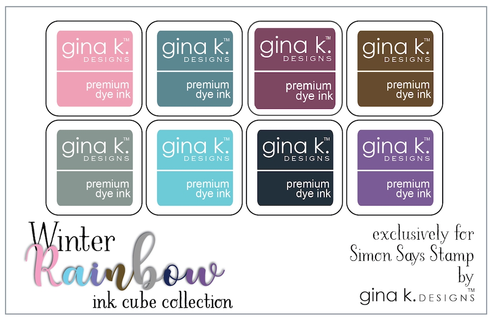Gina K Designs WINTER RAINBOW Premium Dye Ink Cube Collection 5744 zoom image