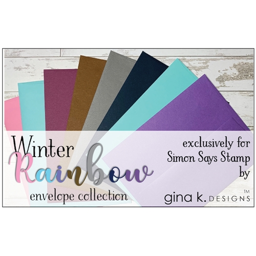 Gina K Designs WINTER RAINBOW 24 Pack A2 Envelope Collection 5720 Preview Image