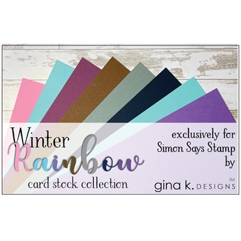 Gina K Designs WINTER RAINBOW 24 Pack 8.5 x 11 Inch Cardstock 5737