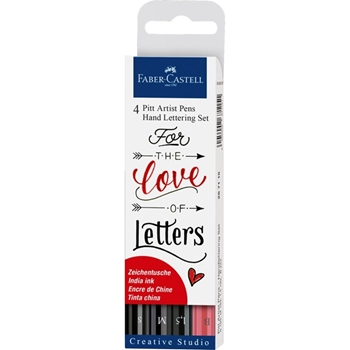 Faber-Castell INDIA INK PITT HAND Lettering Pen Set 267115