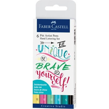Faber-Castell INDIA INK PITT PASTEL Lettering Pen Set 267116
