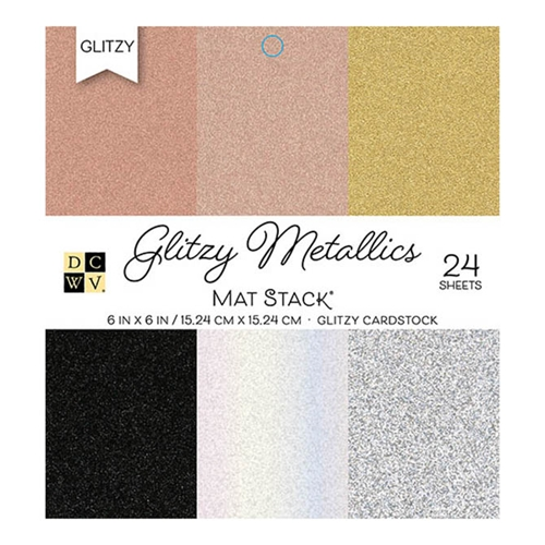 DCWV Cardstock 6 x 6 GLITZY METALLICS Paper Stack ps-006-00130 Preview Image