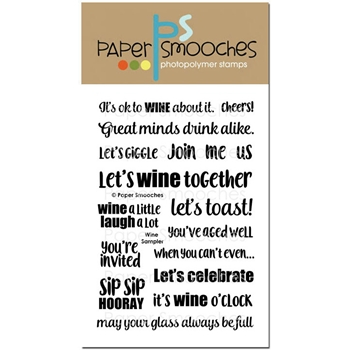 Paper Smooches WINE SAMPLER Clear Stamps DES300