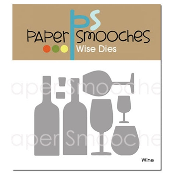 Paper Smooches WINE Wise Dies DED421