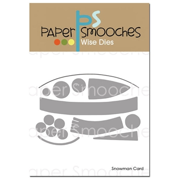 Paper Smooches SNOWMAN CARD Wise Dies DED419