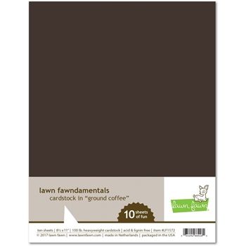 Lawn Fawn GROUND COFFEE Cardstock LF1572